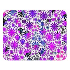 Lovely Allover Flower Shapes Pink Double Sided Flano Blanket (large)