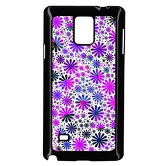 Lovely Allover Flower Shapes Pink Samsung Galaxy Note 4 Case (Black)