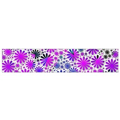 Lovely Allover Flower Shapes Pink Flano Scarf (Small)
