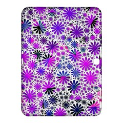 Lovely Allover Flower Shapes Pink Samsung Galaxy Tab 4 (10 1 ) Hardshell Case