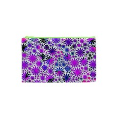 Lovely Allover Flower Shapes Pink Cosmetic Bag (XS)