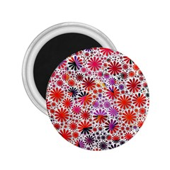 Lovely Allover Flower Shapes 2.25  Magnets