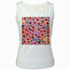 Lovely Allover Flower Shapes Women s Tank Tops