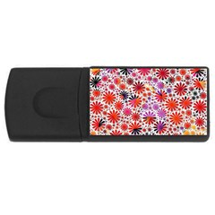 Lovely Allover Flower Shapes USB Flash Drive Rectangular (4 GB)