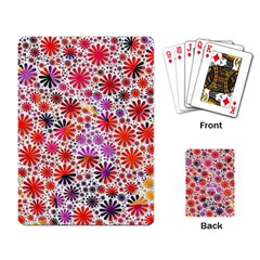 Lovely Allover Flower Shapes Playing Card