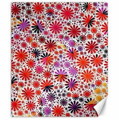 Lovely Allover Flower Shapes Canvas 8  x 10