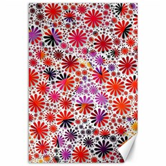 Lovely Allover Flower Shapes Canvas 12  X 18