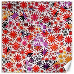 Lovely Allover Flower Shapes Canvas 16  x 16