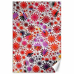 Lovely Allover Flower Shapes Canvas 20  x 30