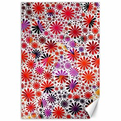 Lovely Allover Flower Shapes Canvas 24  X 36