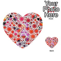 Lovely Allover Flower Shapes Playing Cards 54 (Heart)