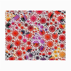 Lovely Allover Flower Shapes Small Glasses Cloth (2-Side)