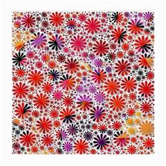 Lovely Allover Flower Shapes Medium Glasses Cloth