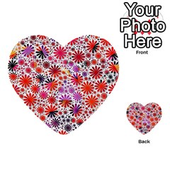 Lovely Allover Flower Shapes Multi-purpose Cards (Heart)