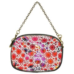 Lovely Allover Flower Shapes Chain Purses (One Side)