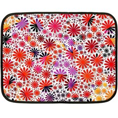 Lovely Allover Flower Shapes Double Sided Fleece Blanket (mini)