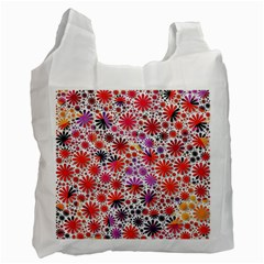 Lovely Allover Flower Shapes Recycle Bag (One Side)
