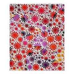 Lovely Allover Flower Shapes Shower Curtain 60  x 72  (Medium)
