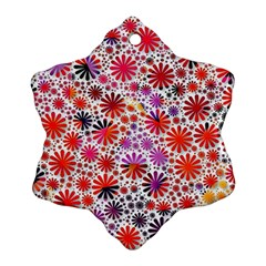 Lovely Allover Flower Shapes Ornament (Snowflake)