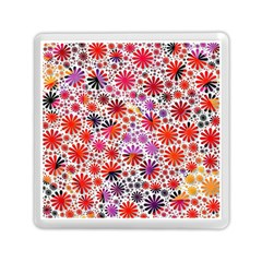 Lovely Allover Flower Shapes Memory Card Reader (Square)
