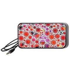 Lovely Allover Flower Shapes Portable Speaker (Black)