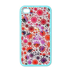 Lovely Allover Flower Shapes Apple iPhone 4 Case (Color)