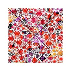 Lovely Allover Flower Shapes Acrylic Tangram Puzzle (6  x 6 )