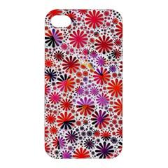 Lovely Allover Flower Shapes Apple iPhone 4/4S Premium Hardshell Case