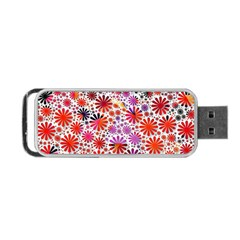 Lovely Allover Flower Shapes Portable Usb Flash (one Side)