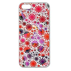 Lovely Allover Flower Shapes Apple Seamless iPhone 5 Case (Clear)