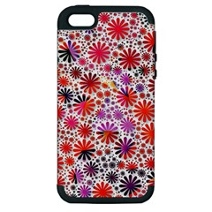 Lovely Allover Flower Shapes Apple iPhone 5 Hardshell Case (PC+Silicone)