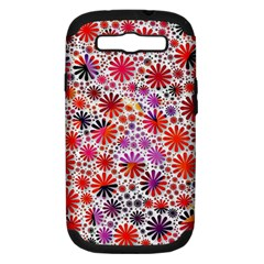 Lovely Allover Flower Shapes Samsung Galaxy S III Hardshell Case (PC+Silicone)
