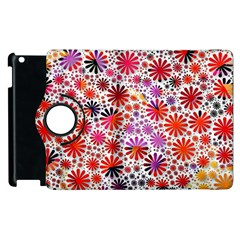 Lovely Allover Flower Shapes Apple Ipad 3/4 Flip 360 Case