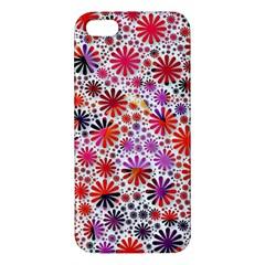 Lovely Allover Flower Shapes Apple iPhone 5 Premium Hardshell Case
