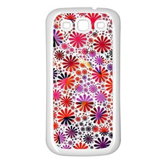 Lovely Allover Flower Shapes Samsung Galaxy S3 Back Case (White)