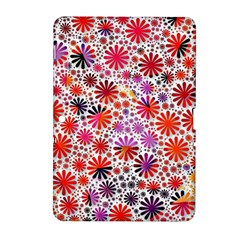 Lovely Allover Flower Shapes Samsung Galaxy Tab 2 (10.1 ) P5100 Hardshell Case