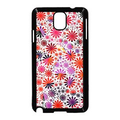 Lovely Allover Flower Shapes Samsung Galaxy Note 3 Neo Hardshell Case (Black)