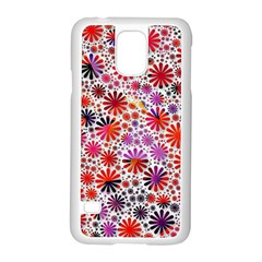 Lovely Allover Flower Shapes Samsung Galaxy S5 Case (White)