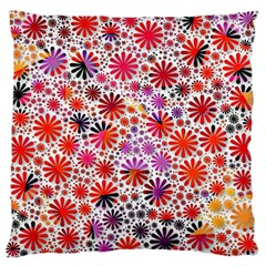 Lovely Allover Flower Shapes Large Flano Cushion Cases (Two Sides)