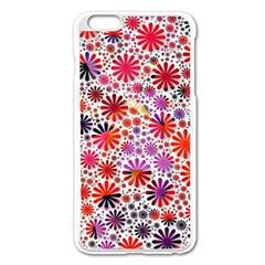 Lovely Allover Flower Shapes Apple Iphone 6 Plus Enamel White Case
