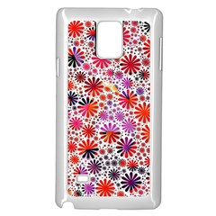 Lovely Allover Flower Shapes Samsung Galaxy Note 4 Case (White)
