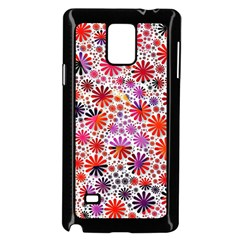 Lovely Allover Flower Shapes Samsung Galaxy Note 4 Case (Black)