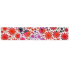 Lovely Allover Flower Shapes Flano Scarf (large)