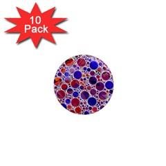 Lovely Allover Hot Shapes Blue 1  Mini Magnet (10 pack)