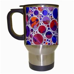 Lovely Allover Hot Shapes Blue Travel Mugs (White)