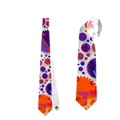 Lovely Allover Hot Shapes Blue Neckties (one Side)