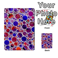 Lovely Allover Hot Shapes Blue Multi Purpose Cards (rectangle)