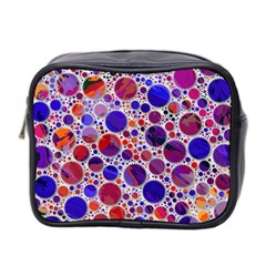 Lovely Allover Hot Shapes Blue Mini Toiletries Bag 2-Side