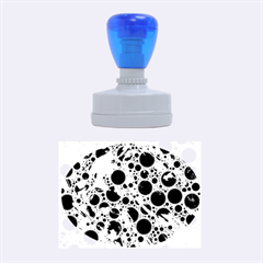 Lovely Allover Hot Shapes Blue Rubber Oval Stamps