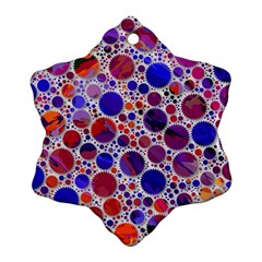 Lovely Allover Hot Shapes Blue Ornament (Snowflake)